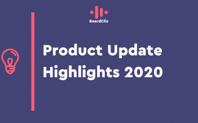What a year — 2020 in review — BoardClic product updates and feature highlights